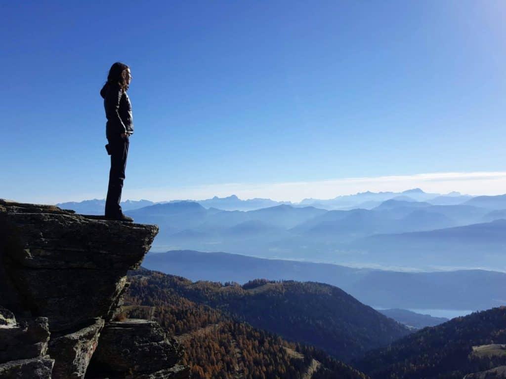 hiking Nocky Mountains Carinthia lake Millstatt in Austria