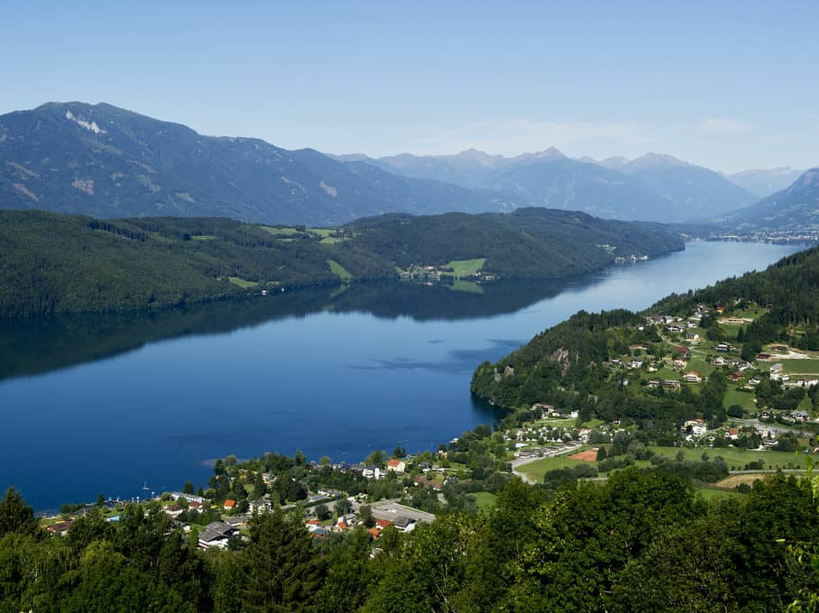 mountains and lake - Millstätter See in Carinthia Austria