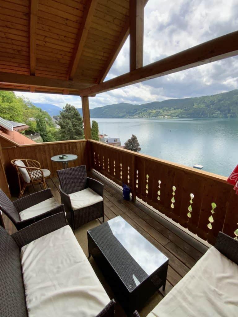 freie Zimmer mit Seeblick und Seezugang am Millstätter See