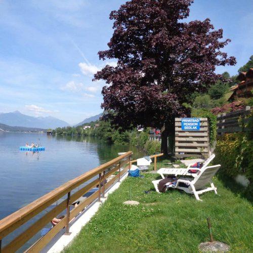 access to the lake Millstatt in Carinthia