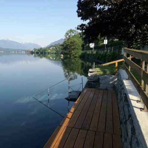 bed and breakfast with private access to lake Millstatt
