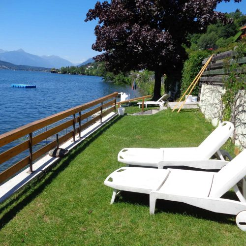 directly at the lake Millstätter See in carinthia