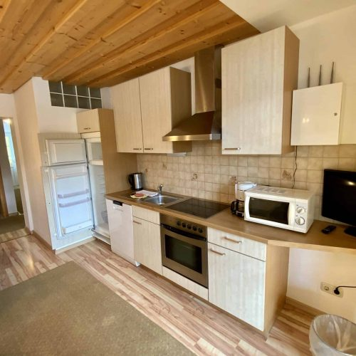 Küche in Appartement der Pension Sedlak
