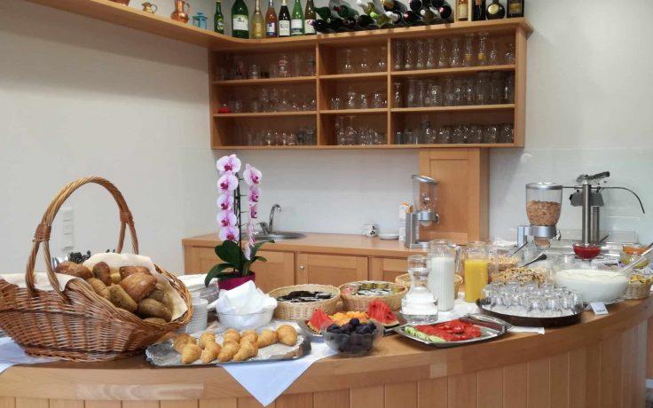 Frühstücksbuffet in Pension Sedlak