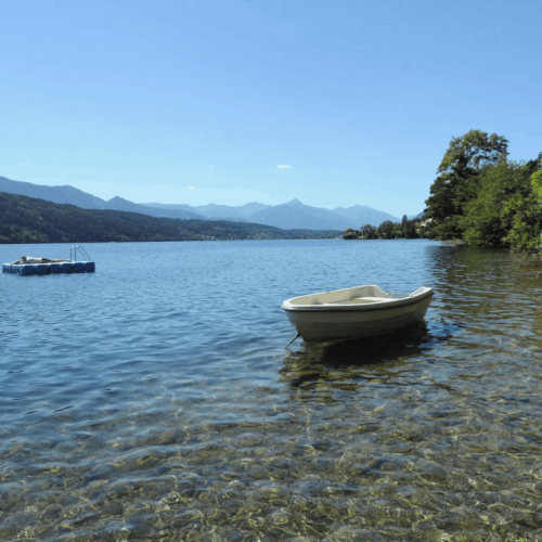 private access to the lake millstatt carinthia austria